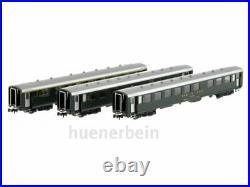 Mw Modèle N-CH-210b SBB Jeu 3x Voitures Schlieren Vert/Gris Ric Ep4 Neuf + Ovp