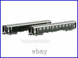 Mw Modèle N-CH-211a SBB Jeu 2x Voitures Schlieren Vert/Gris Ric Ep3 Neuf + Ovp