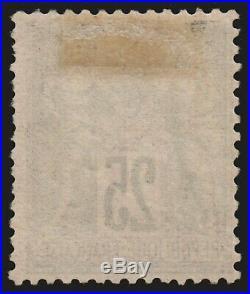 N°91, Sage 1878, 25c noir sur rouge, neuf  sans gomme TB