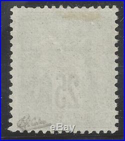 N°91 Sage 25c noir s/ rouge Type II Neuf 1878 TB Signé Calves