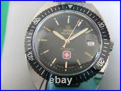 N. O. S. Stock Neuf 80 Swiss Military Plongée Tonneau Diver Automatic Eta 2824