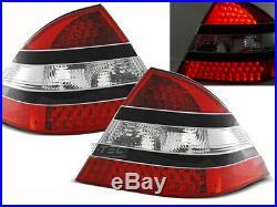NEUF! Feux arrières pour Mercedes W220 S-CLASSE 1998-2005 Rouge Noir LED FR LDME