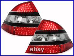 NEUF Feux arrières pour Mercedes W220 S-CLASSE 1998-2005 Rouge Noir LED FR LDME0