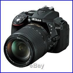 NEUF Nikon D5300 avec AF-S DX Nikkor 18-140mm f/3.5-5.6G ED VR Lentille NOIR