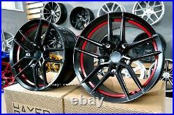 Neuf 20 inch 5X114.3 HAXER HX037 Roues Noir Rouge Semi Forgé pour Nissan Lexus
