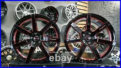 Neuf 20 inch 5x114.3 7 Rayon Noir Rouge Vip Roues Alliage Pour Ford MUSTANG