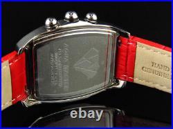 Neuf Aqua Master Rodéo Joe Rouge Noir W 42 Bulle Véritable Montre Diamant 2.5 CT