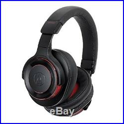 Neuf Audio Technica Sans-Fil Casque Solide Basse Noir Rouge Ath-ws990bt BRD