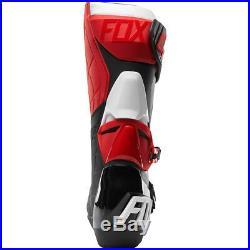 Neuf Bottes Motocross Fox Comp R Rouge Noir Blanc Enduro Botas Supermoto MX