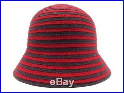 Neuf Chapeau Malo Taille 57 Cachemire Rouge Et Noir Red And Black Cashmere Hat