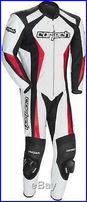 Neuf Cortech Latigo 2.0 RR Cuir Suit 1-Piece, Blanc/Noir/Rouge, US-42/44/EUR-54
