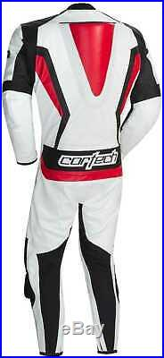 Neuf Cortech Latigo 2.0 RR Cuir Suit 1-Piece, Blanc/Noir/Rouge, US-44/46/EUR-56