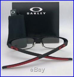 Neuf Ferrari Oakley Lunettes Carbone Plaque OX5079-0453 Noir Rouge W / Fibre de