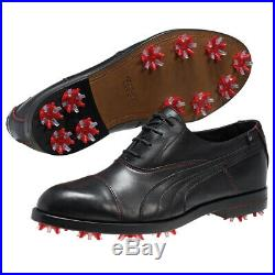 Neuf Hommes Puma Sf Lux Limitée Ferrari Golf Chaussures Noir/Rouge Taille 10 M