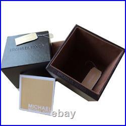 Neuf Michael Kors MK2376 Boîte à Caitlin Avec Bracelet En Cuir Noir Montre Femme