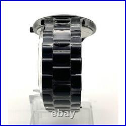 Neuf Michael Kors MK3589 Cadran MK Logo Noir Bracelet Noir Quartz Montre Femmes