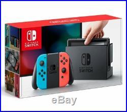 Neuf Nintendo Interrupteur Joy-Con (L.) Néon Bleu / (R) Rouge Néon de Japon