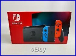 Neuf Nintendo Interrupteur avec Néon Bleu et Rouge Joie Con Portable Gaming