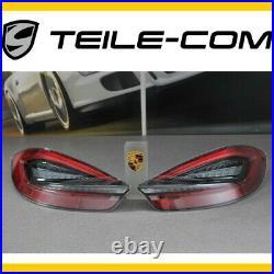 Neuf + Orig. Porsche 981 Boxster / Cayman Feux Arrière Noir/Rouge Noir à Gauche +