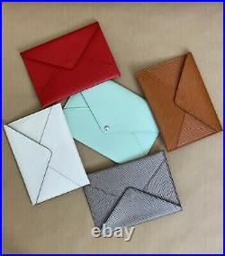 Neuf Pochette Louis Vuitton Enveloppe Invitation Defile Pfw Cuir Epi Rouge