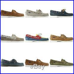 Neuf Sebago Chaussures Dockside Bateau Marron / Noir/Sable / Vin en Boîte