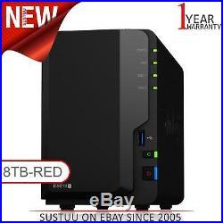 Neuf! Synology Diskstation DS218+8TB (2 X 4TB WD Rouge) 2 Baie Bureau Nas Unité