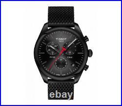 Neuf Tissot T101.417.33.051.00 Pr 100 Noir Montre Chronographe 2 Ans Garantie
