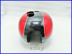 Neuf Triumph T140 Noir et Rouge Peinture Huile en Cadre Bleu Pétrole Carburant D