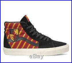 Neuf Vans X Harry Potter Gryffondor Sk8 Hi Rouge / Noir/Jaune hp Hommes / Femmes
