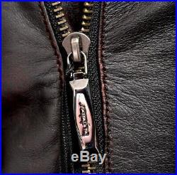 Neuf avec Étiquettes Byblos Noir Vieillie Cuir Rouge Fermeture Éclair