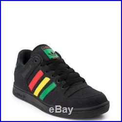 Neuf pour Hommes Adidas Bucktown Athlétique Chaussure Noir Multi Chanvre Rouge