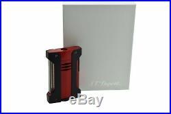 Neuf st Dupont Defi Extreme Rouge & Noir Torche Briquet Flamme ST021402