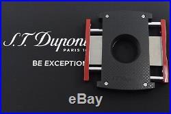 Neuf st Dupont Maxijet Noir et Rouge Perforé Briquet & Cigare Cutter