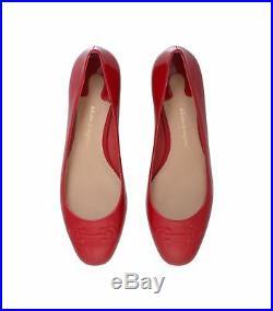 Nib Neuf Salvatore Ferragamo Broni Noir Rouge or Ballerines 6.5 7 8 8.5 9.5
