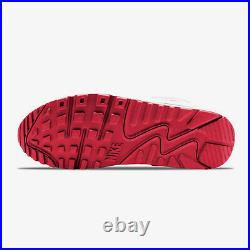Nike Air Max 90 Blanc Hyper Rouge Noir Chaussures Baskets Hommes CT1028 101 Neuf