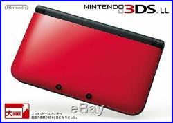 Nintendo 3DS Ll XL Rouge X Noir Console Japon Import Neuf