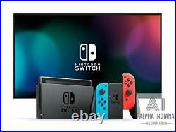 Nintendo Switch avec paire de Joy-Con Rouge Néon et Bleu Néon Neuf Jeux Video