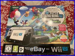 Nintendo Wii U Mario & Luigi Bros U Premium Pack 32 Go Noir en boite Comme NEUF