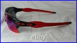 Oakley OO 9188-24 Flak 2.0 XL Noir Positive Rouge Iridium Neuf