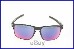Oakley oo4123 Holbrook métal mat noir rouge IRIDIUM lunettes de soleil NEUF