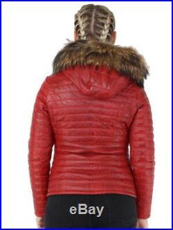Oakwood Doudoune Oakwood Happy cuir ref cco43970 rouge foncé Neuf