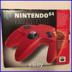 Officielle Manette Nintendo 64 N64 Rouge Controller En Boite Neuf New