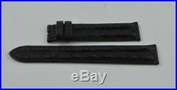 Omega Cuir Bracelet 18MM Pour Fermeture Boucle Ardillon 16MM Noir Neuf non Porté