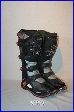 Original Bottes Moto Motocross cuir HEBO NEOX noir gris rouge T 41 neuf