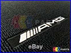 Original et Neuf pour Mercedes MB A W176 AMG Rouge Piqué Velours Noir Set de