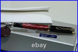 Pelikan Souverain M400 Plume Stylo Noir-Rouge Noir Rouge Ef Neuf dans Boite