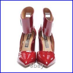 Petar Petrov Escarpins Gr. Rouge Noir Chaussures Femmes Talons Hauts Neuf