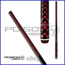 Poison POV5BKB Neuf VX5 Séries Break Queue de Billard Noir & Rouge W