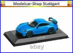 Porsche 911 992 GT3 Jeu Rouge Indien/ Noir/ Bleu Clair Minichamps 143 Neuf