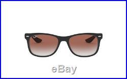Ray-Ban Junior Neuf Wayfarer Lunettes de Soleil Rj9052s 100/V0 48 Noir/Rouge
